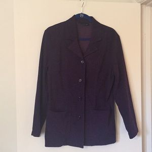 Briggs New York Purple/Eggplant Faux Suede Blazer